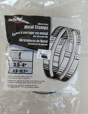 Deflect-o Worm Drive Metal Clamps 3.5 - 4