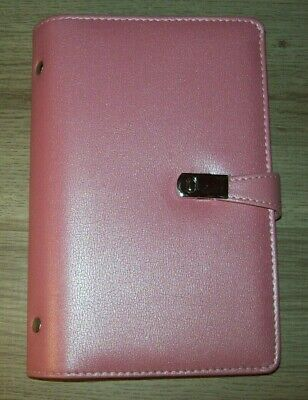 Business Card Book Case Pink Pu Leather With Magnets Organization Binder Id Card