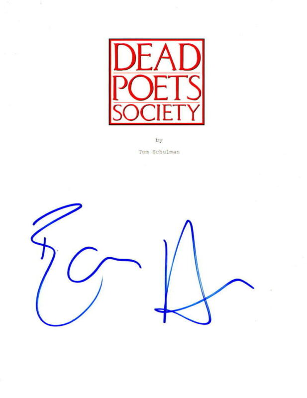 ETHAN HAWKE SIGNED DEAD POETS SOCIETY FULL SCRIPT AUTHENTIC AUTOGRAPH COA