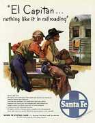 Santa FE Railroad Advertisement