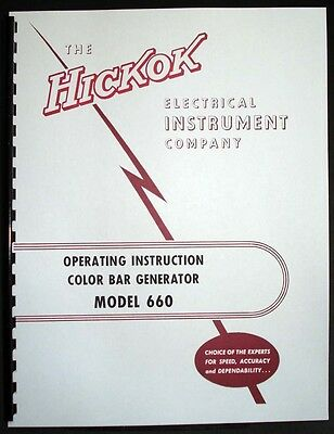 Hickok 660 Color Bar Generator Operating Manual
