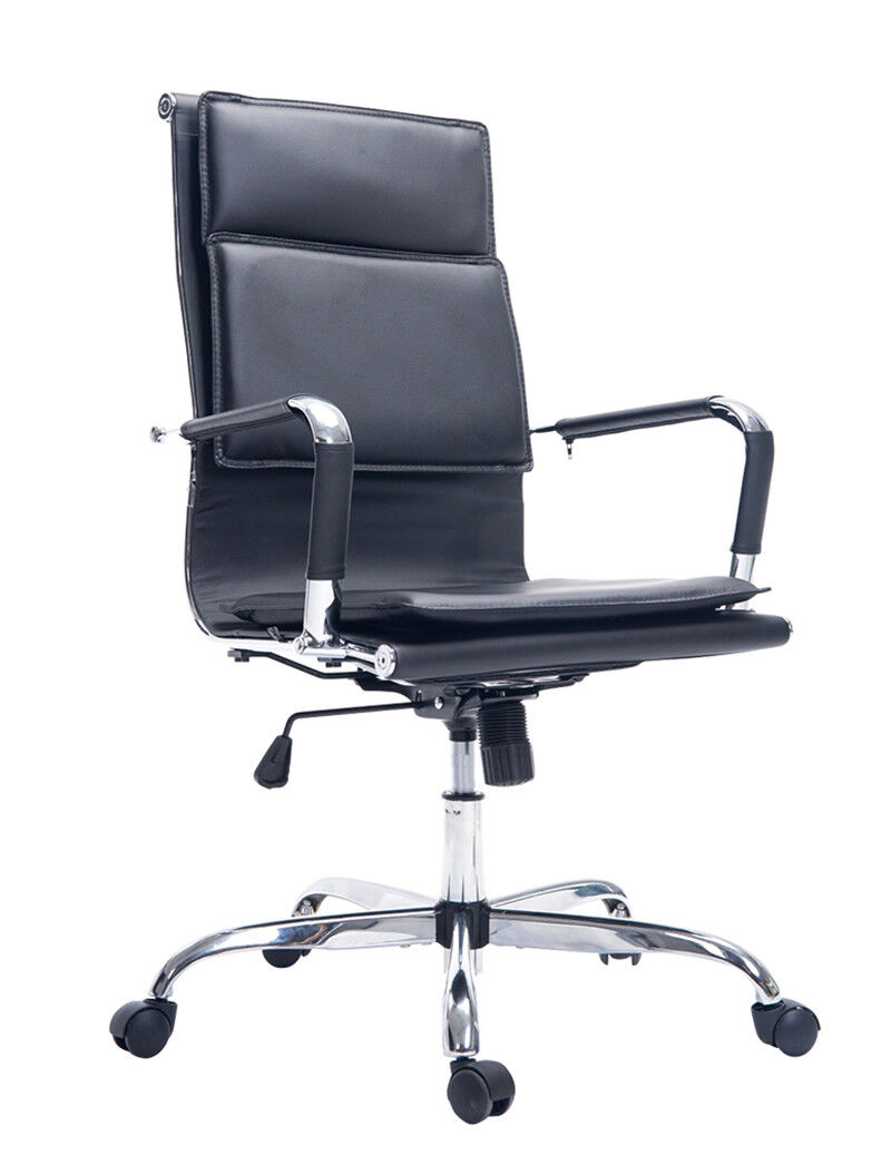 PU Leather Ergonomic High-Back Executive Computer Desk Task Office Chair