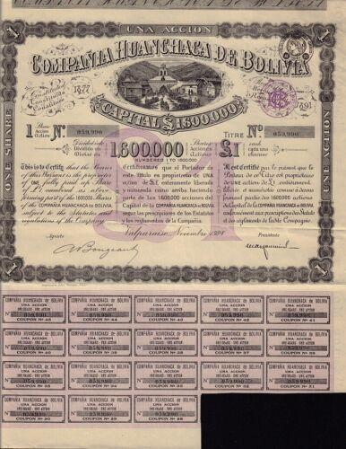 Compania Huanchaca de Bolivia Valparaiso dd 1928