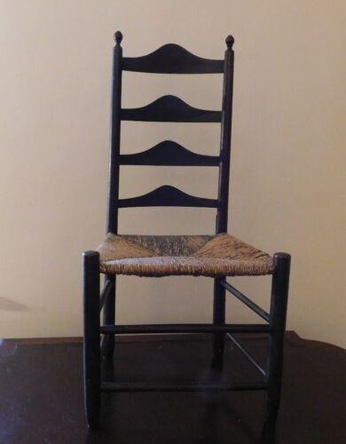 Chair, Primitive Slat-Back Acorn