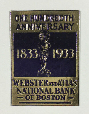 Poster Stamp   Webster   Atlas National Bank Of Boston 100Th Anniversary   1933