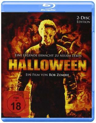 Halloween Part 1 Remake Rob Zombie 2 Disc Edition Horror Region B UK Blu-Ray NEW