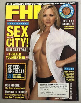 FHM Magazine April 2003 Kim Cattrall Danica Patrick Monica Bellucci