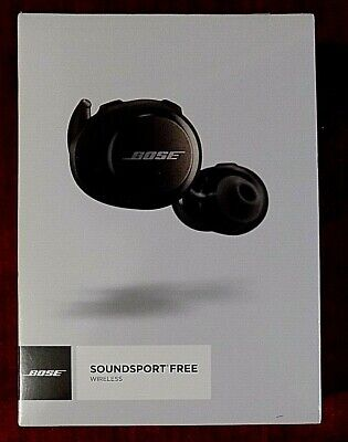Bose Soundsport Free Wireless Weather Resistant Earbuds Black Headphones - NEW