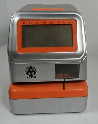 At-3000 Electronic Time Stamptime Clock Used Works No Key