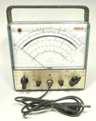 Vintage Rca Senior Voltohmyst Meter Model Wv-98c W Probe - Tested Working