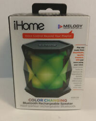 Ihome Melody Color Changing Bluetooth Wireless Speaker iBT68B Speakerphone NEW