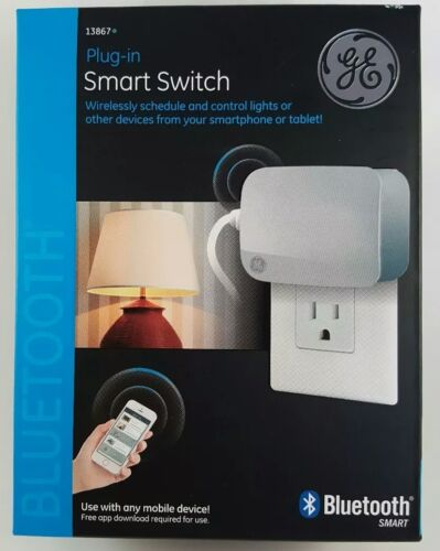 GE Smart Switch Wireless Light Control Bluetooth Plug In #13867 White
