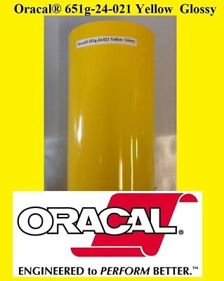 24 X 10 Ft Roll Yellow Glossy Oracal 651 Vinyl Adhesive Cutter Plotter Sign 021
