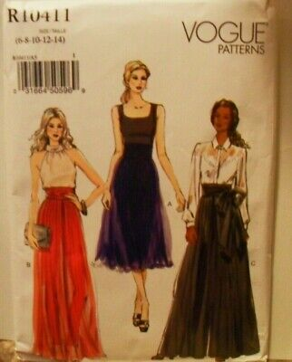 Vogue Sewing Pattern Plus Size 14-22 Loose Fitting Wide Legged Pants NEW