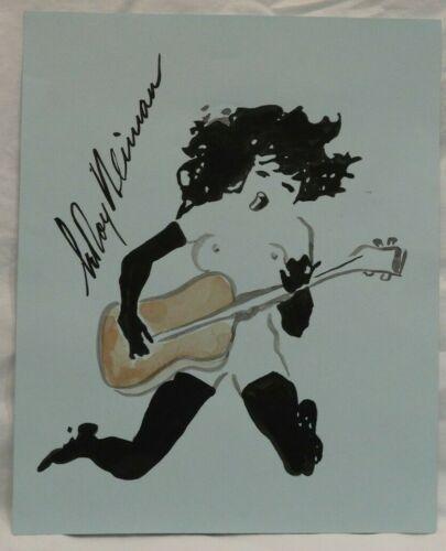 Original LeRoy Neiman Femlin Playing Guitar Playboy Pen, Ink & Watercolor