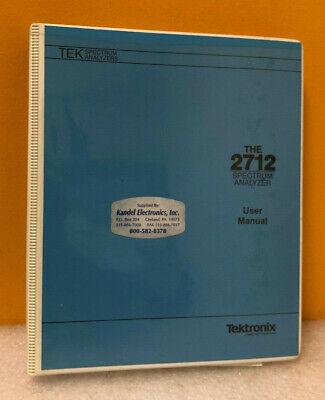 Tektronix 070-8137-01 2712 Spectrum Analyzer Users Manual