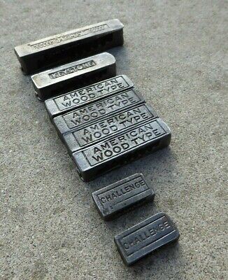 8 Sets Letterpress Quoins Print 4 3 1.5 American Woodtype Challenge