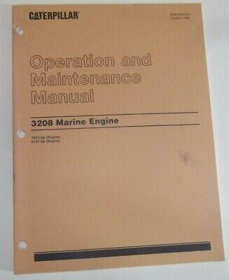 Cat Caterpillar 3208 Marine Engine Operation Maintenance Manual Book 75v 01z