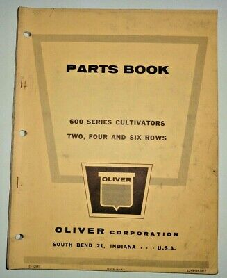 Oliver 600 Series Cultivator Parts Catalog Manual Book Original 168