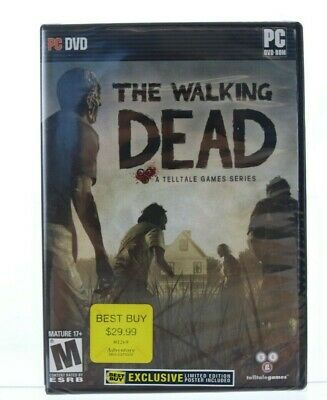 Walking Dead: Limited Best Buy Edition (PC) Brand New Sealed with Poster NIP
