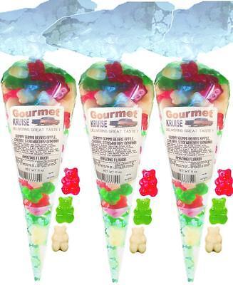 Red White Green Gummy Bears (3 Pack) Gummi Gourmet Kruise® - Green Gummy Bears