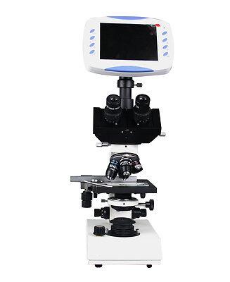 Professional Trinocular Microscope W 2mp Tv Camera 6 Lcd Screen 1gb Sd Storage
