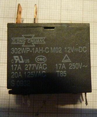 mikrowelle relais 302WP-1AH-C M07 M02 12V DC 17A Stromversorgung