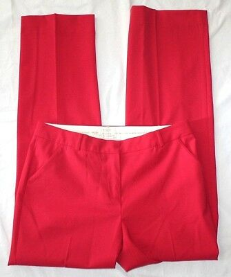 Kate Spade Live Colorfully Dress Pants 6 Red Bow Pocket Wool Stretch Trousers 33 (6 Pocket Wool Pants)
