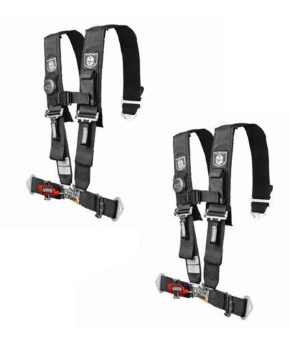 "Pro Armor 5 Point Harness 2"" Pads Seat Belt PAIR BLACK Yamaha Rhino 450 660 700"