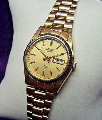 Seiko Gold Plated Bracelet - Seiko PRESIDENT 3E23-0A60 Womens Gold Plated Quartz Calendar Bracelet Watch