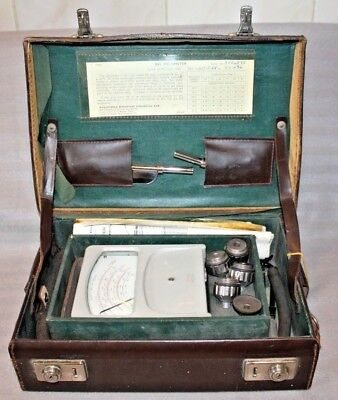 Vintage Velometer, Associated Electrical Industries 3002, AEI Cased, accessories