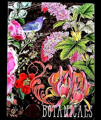 Botanical Garden Bird Flowers Plants Leaves - Blank Greeting Note Card - NEW