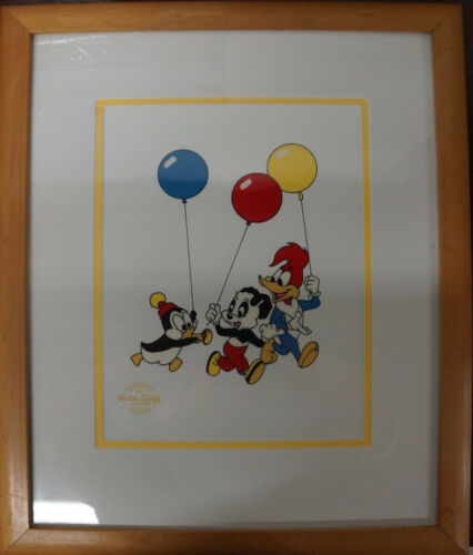 (LI)1991 Serigraph Cel By Walter Lantz Woody - Chilly Willy - Andy Panda -Framed