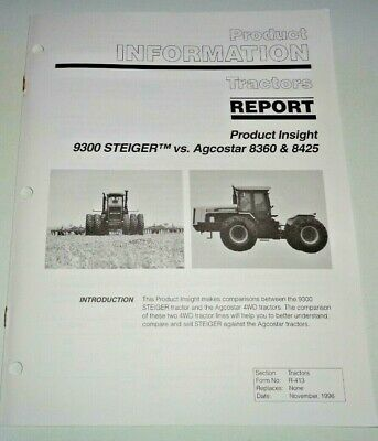 Case Ih 9300 Steiger Tractor Agco 8360 8425 Product Information Brochure Manual