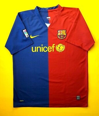 e1782ab3e7b 4.9 5 Barcelona jersey XL 2008 2009 home shirt Nike soccer football ig93