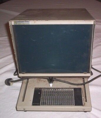 Microfiche Only  Scannerreader Micro Design Model 150--check This Out-