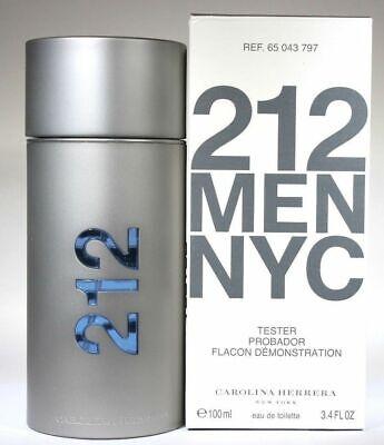 212 BY CAROLINA HERRERA 3.3 / 3.4 O.Z EDT SPRAY *MEN'S PERFUME* NEW IN TSTR BOX*