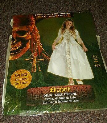 Elizabeth Swann Pirates Of The Caribbean Costume (Pirates of the Caribbean Elizabeth Swann Deluxe White Child Costume Dress)