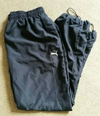 Puma Mens Size XL Extra Large Track Pants Bottoms Joggers Navy Blue Activewear