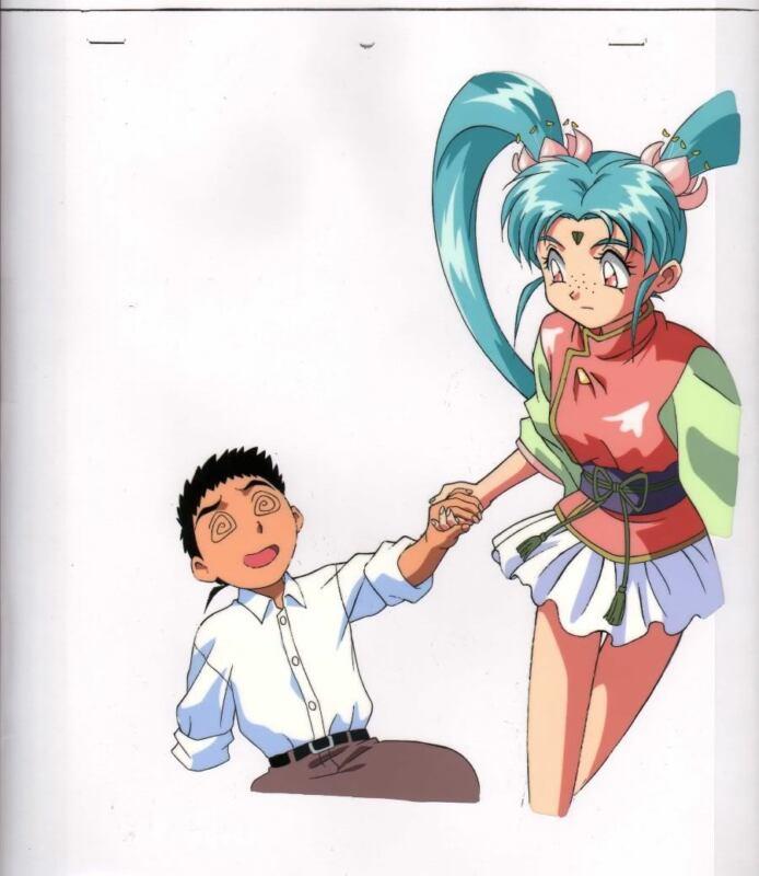 Anime Cel Tenchi Hanken #4