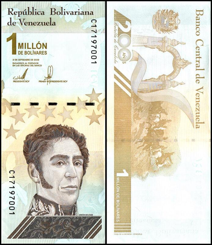 Venezuela 1 Million Bolivar Soberano Banknote, 2020, P-114, UNC