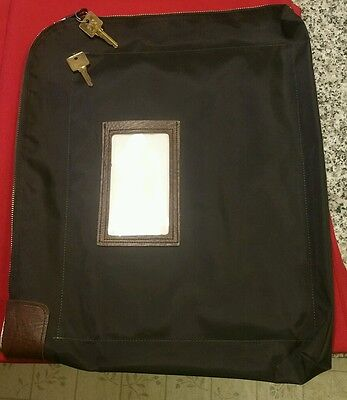 Night Deposit Zipper Bag (MMF Industries Seven-Pin Security/Night Deposit Bag Two Keys Nylon 18 x 14 )