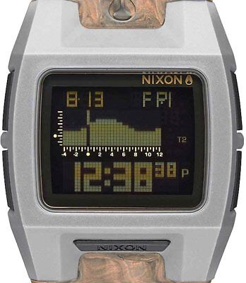 PRE-OWNED $150 Nixon Lodown II Silicone Spacedust Digital Sport Watch A281-2163