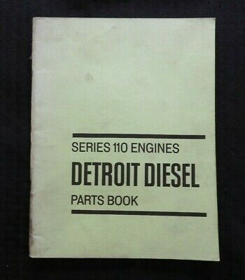 Detroit Diesel Motor Serie (1971 Detroit Diesel Serie 110 Motor Teile Katalog Manuell Sehr Gut Form Selten)
