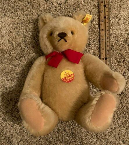 Steiff Original Plush Jointed Teddy Bear With Tags 10 Inch Sitting