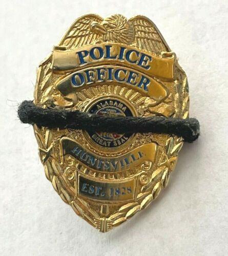 Huntsville, AL Police Officer Badge Lapel Pin - Black Draped for fallen officer