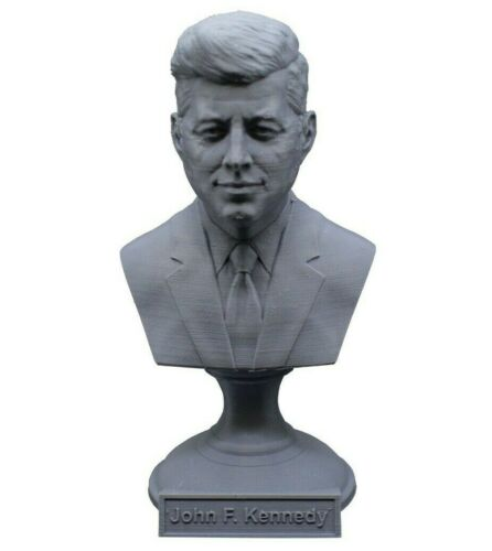 John F. Kennedy JFK 5 inch 3D Printed Bust USA President #36 Art FREE SHIPPING
