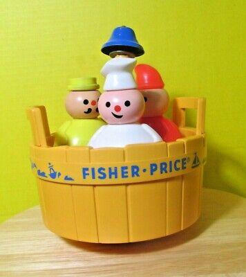 Vintage Fisher Price toy '3 Men in a Tub' Butcher Baker Candlestick Maker Nice!