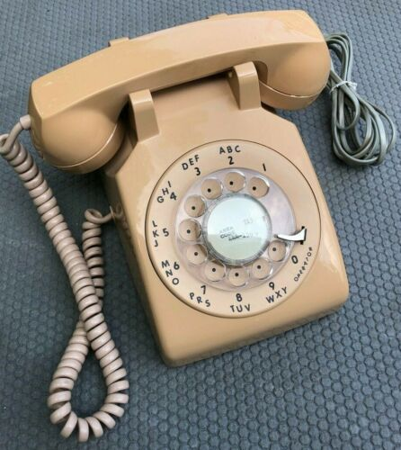 VINTAGE ORIGINAL BASIC WESTERN ELECTRIC-BELL ROTARY DIAL PHONE-TELEPHONE-CORD