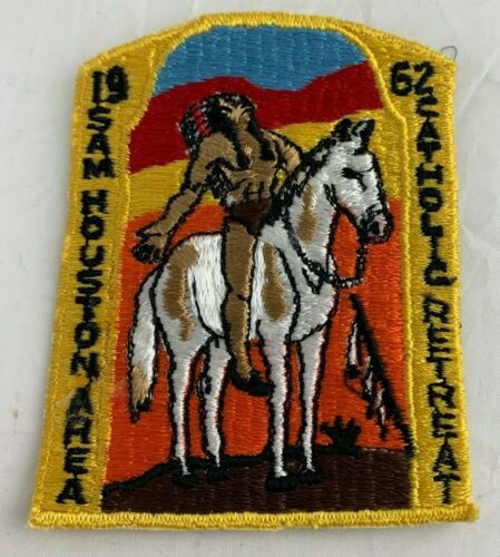 BSA 1962 Sam Houston Area Catholic Retreat Camp Patch Vintage
